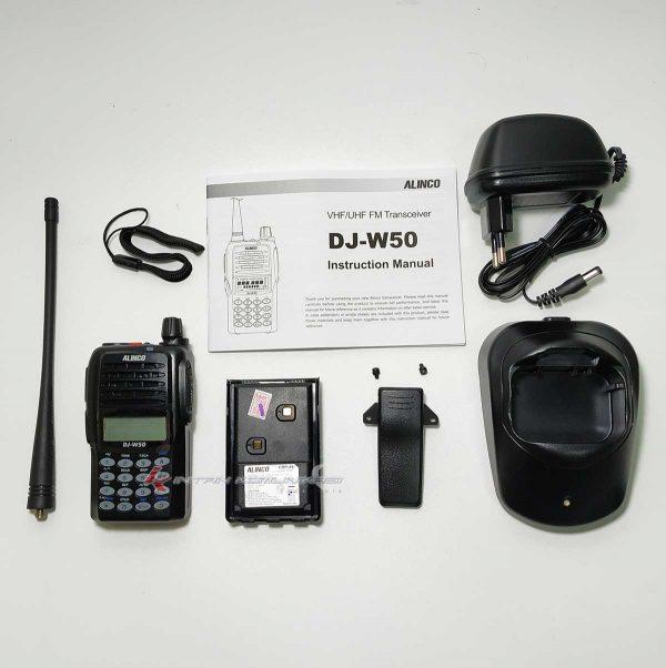 Kelengkapan HT Alinco DJ-W50